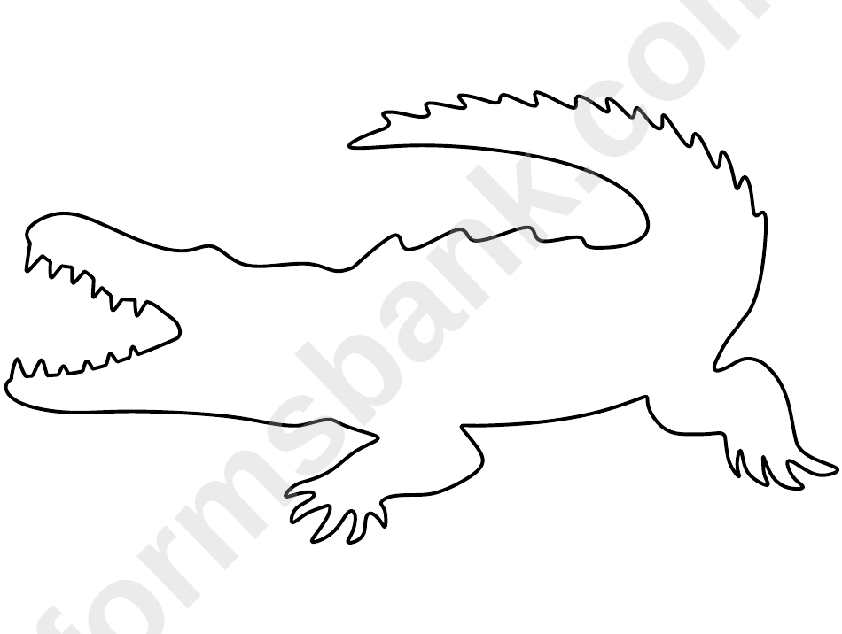 Crocodile Pattern Template printable pdf download