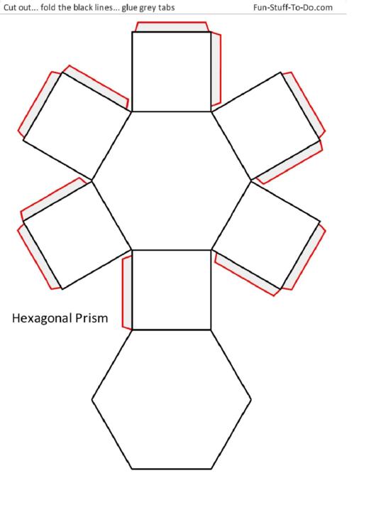 Hexagonal Prism Templates printable pdf download