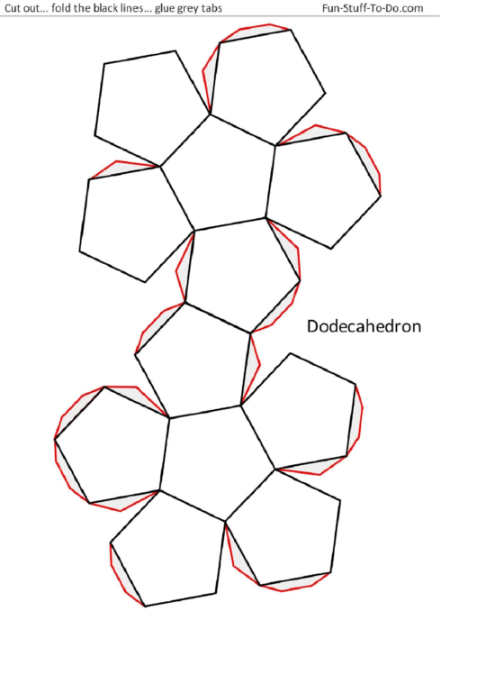 Top 6 Dodecahedron Templates free to download in PDF format