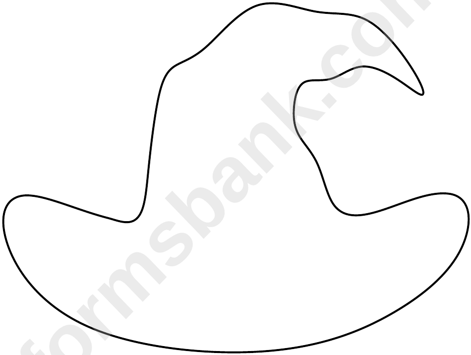 Blank Witch Hat Template printable pdf download