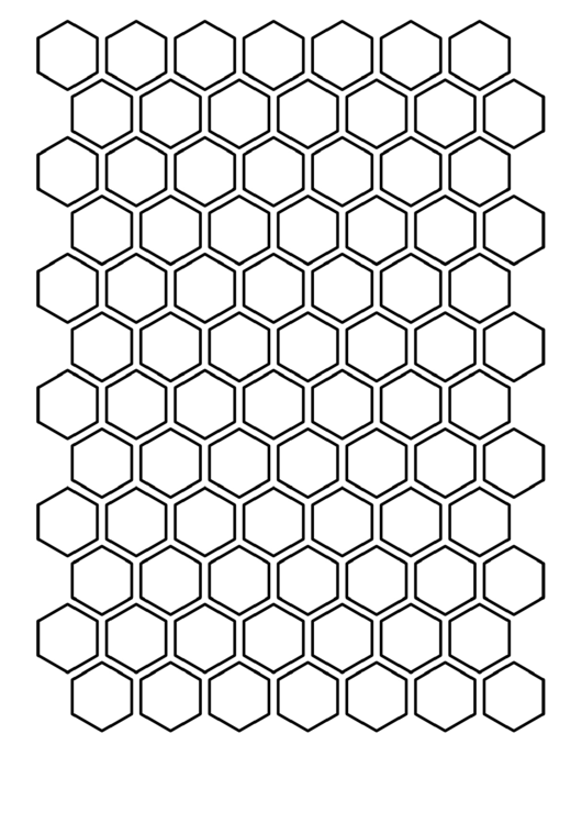 1 Inch Hexagon Template printable pdf download
