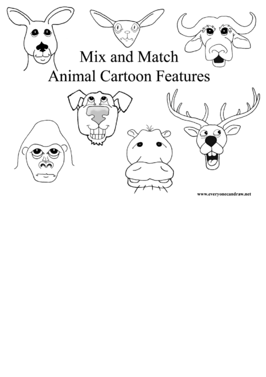 Mix And Match Animal Cartoon Features Cheat Sheet