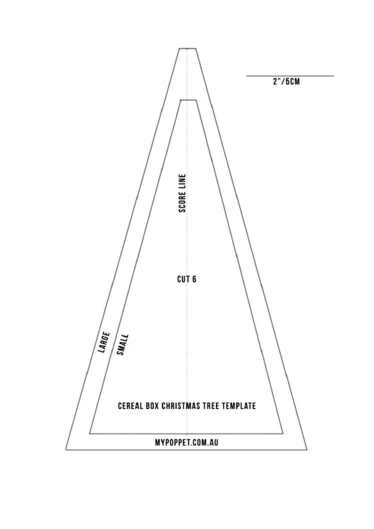 Cereal Box Christmas Tree Template printable pdf download