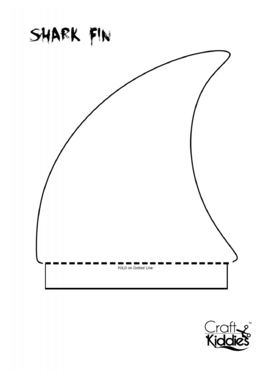Shark Fin Pattern Template printable pdf download