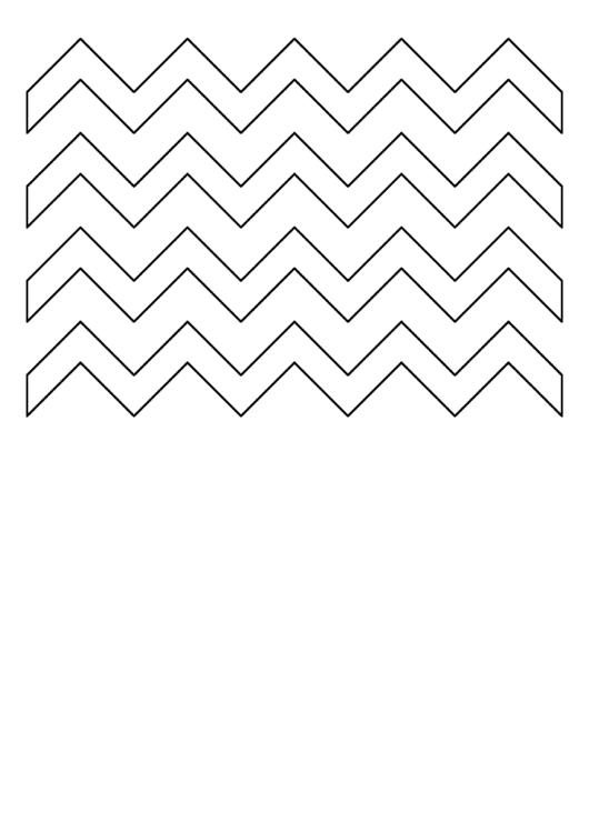 Zig-Zag Pattern Template printable pdf download