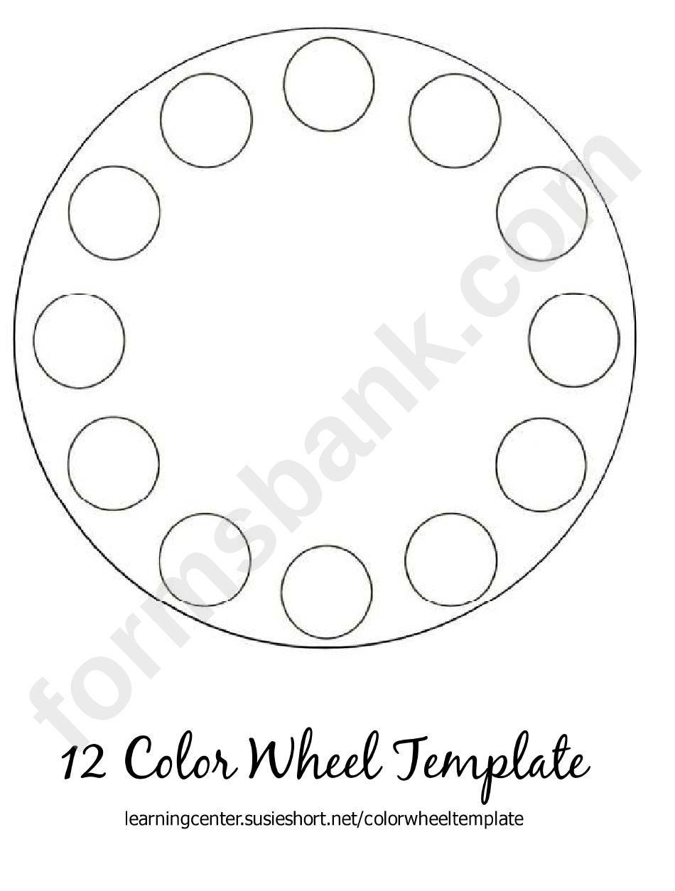 12 Color Wheel Template printable pdf download