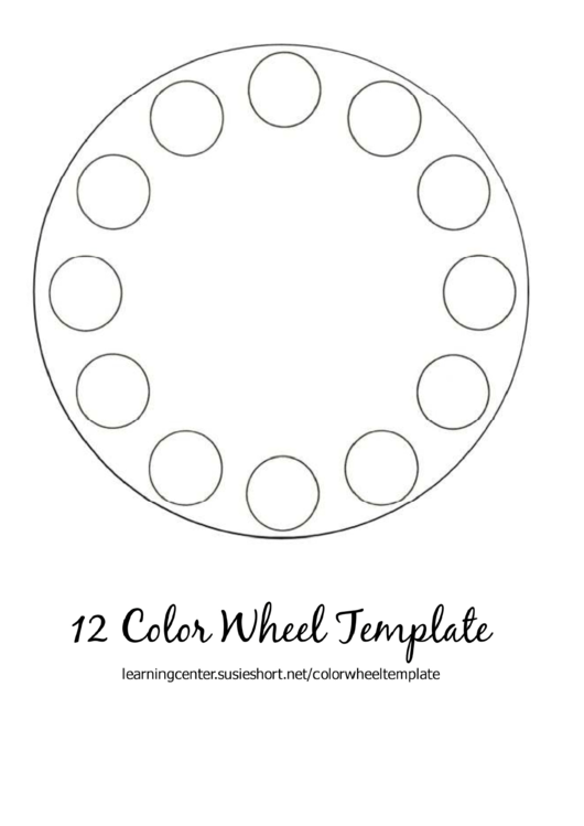 12 Color Wheel Template printable pdf download