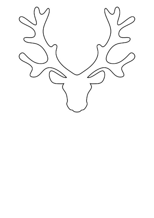 Reindeer Head Pattern Template printable pdf download
