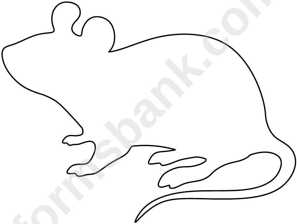 Blank Rat Template printable pdf download