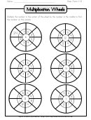 Multiplication Wheel (0-9) printable pdf download