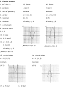 Graphing Quadratics Review Worksheet With Answer Key printable pdf download