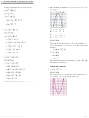 Transformations Of Quadratic Graphs Worksheet With Answers