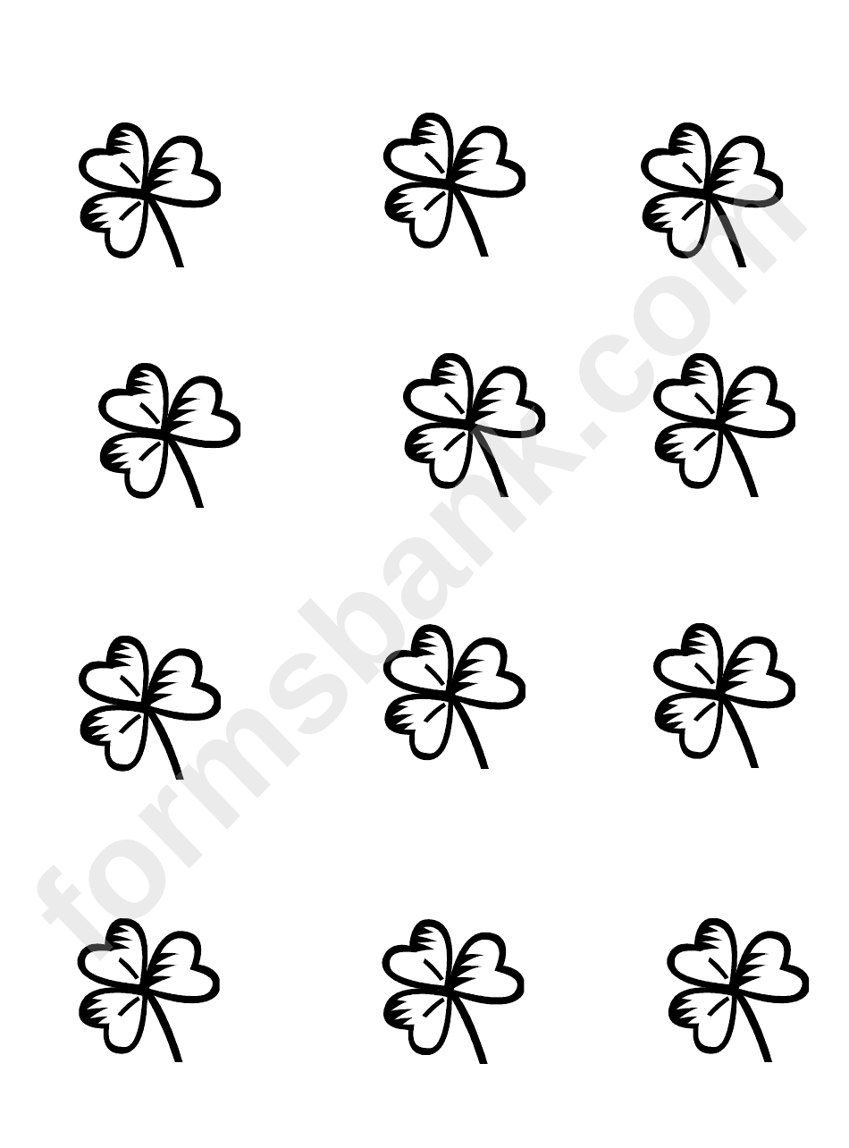 Trefoil Template printable pdf download