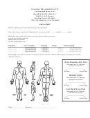 Body Pain Diagram And Pain Rating Chart printable pdf download