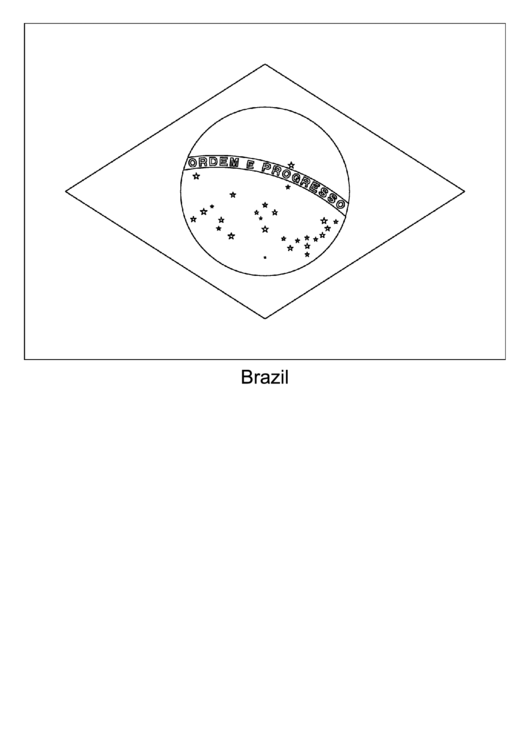 Brazil Flag Template printable pdf download
