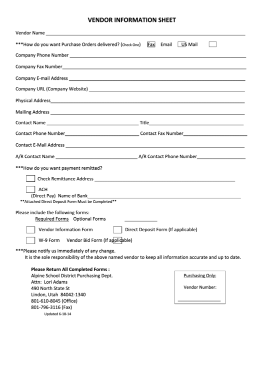 updated contact information form template