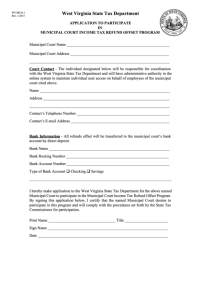 Form Wv/mun-1 - Application To Participate In Municipal ...
