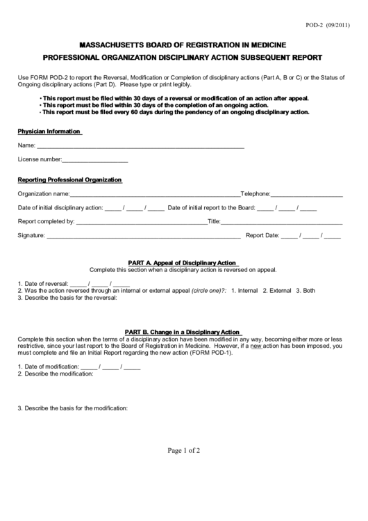 Massachusetts Board Of Registration In Medicine ...