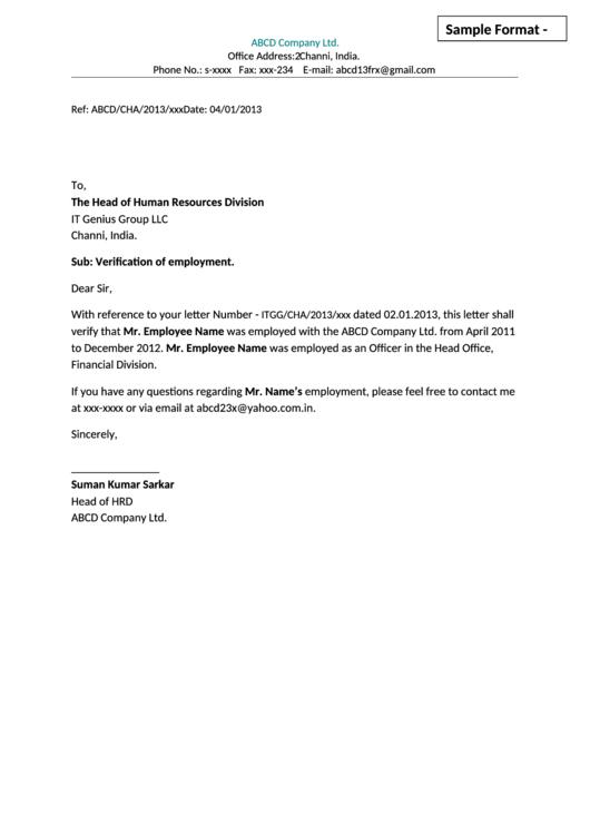 Sample Employment Eligibility Verification Letter Template Printable Pdf Download