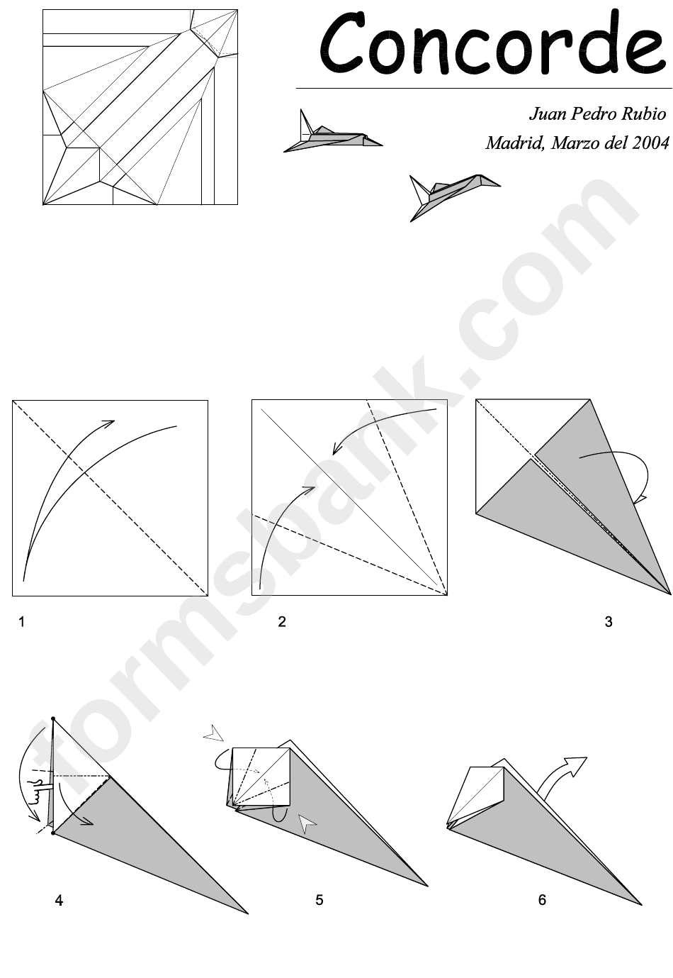 Concorde Paper Airplane Instructions printable pdf download