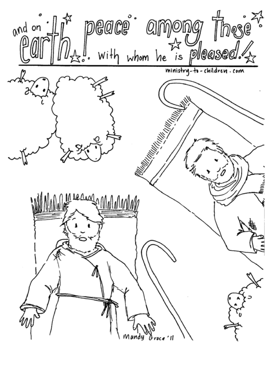 Christmas Coloring Sheet printable pdf download