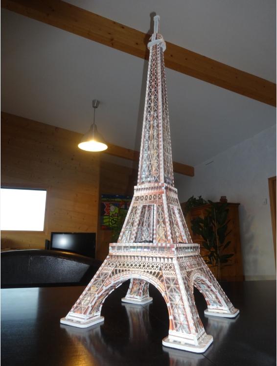 puzzle 3d paris la tour eiffel 816 pieces wrebbit 3d