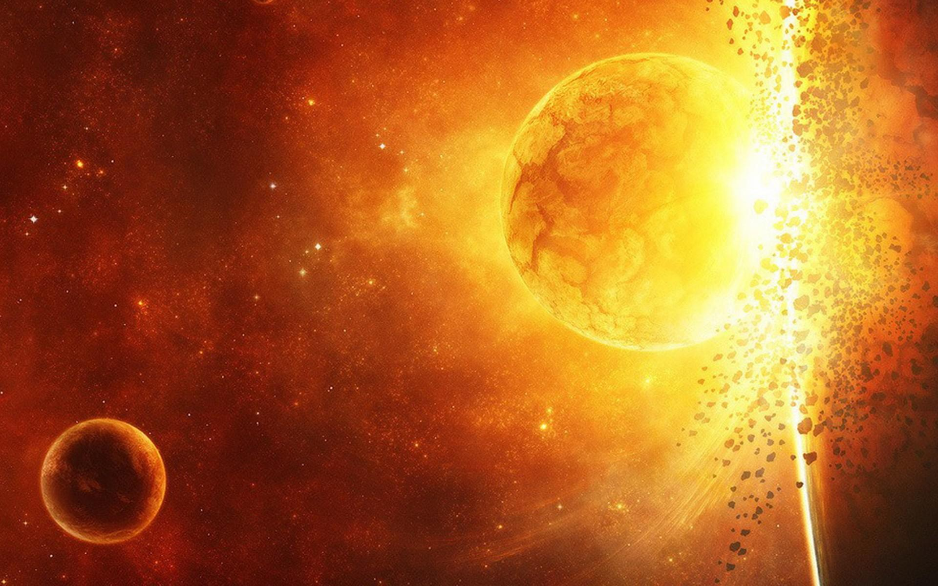 New Year 2014 Hd Wallpapers Hd Outer Space Stars Planets Catastrophe Explosion High