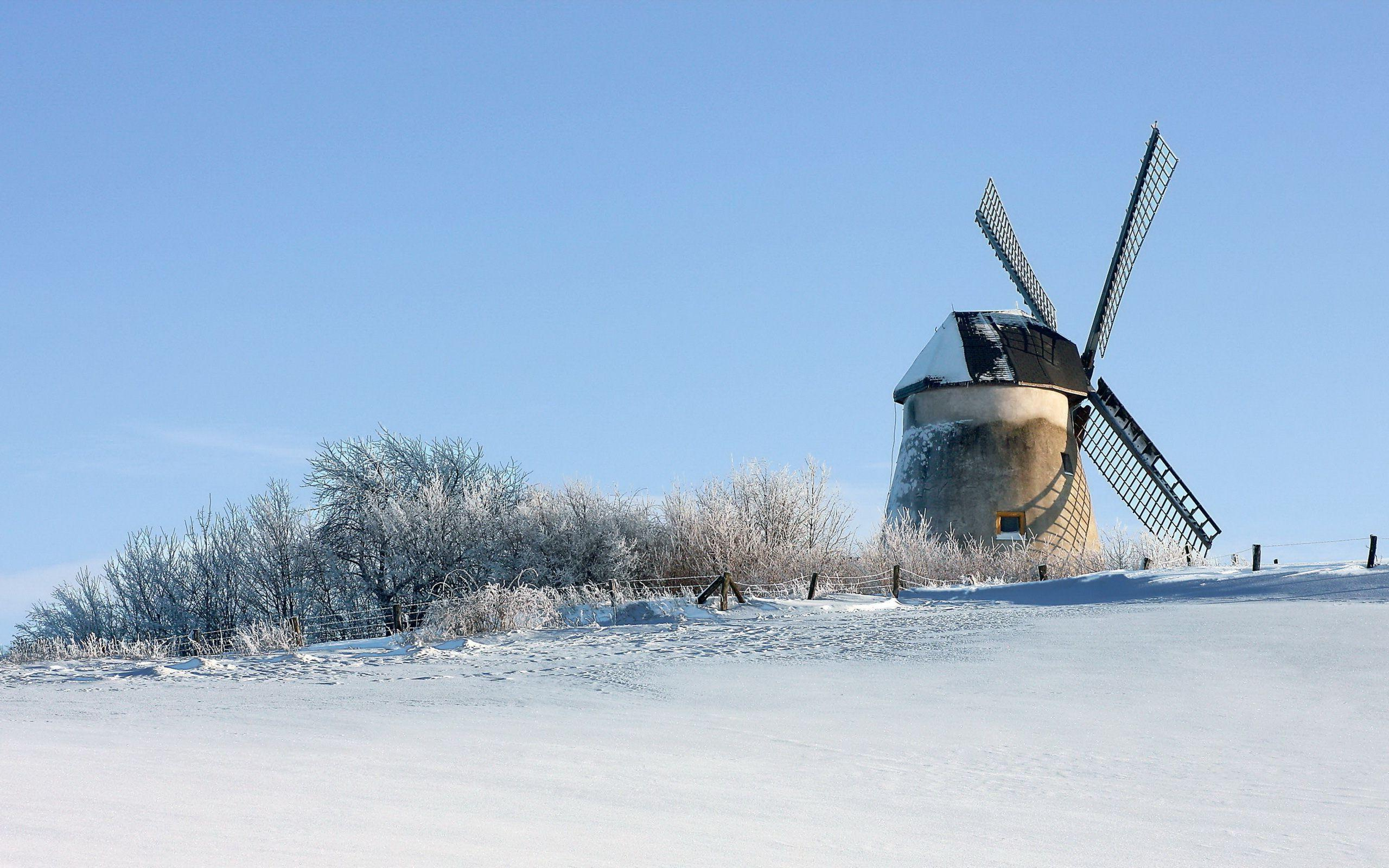 Cute Merry Christmas Wallpaper 2016 Hd Windmill In The Winter Wallpaper Download Free 150116