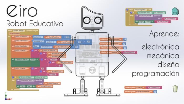 imagen eiro 10 - Eiro, robot educativo de código abierto compatible con Arduino