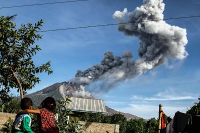 Aftermath of Mount Sinabung volcanic eruption in Indonesia ...