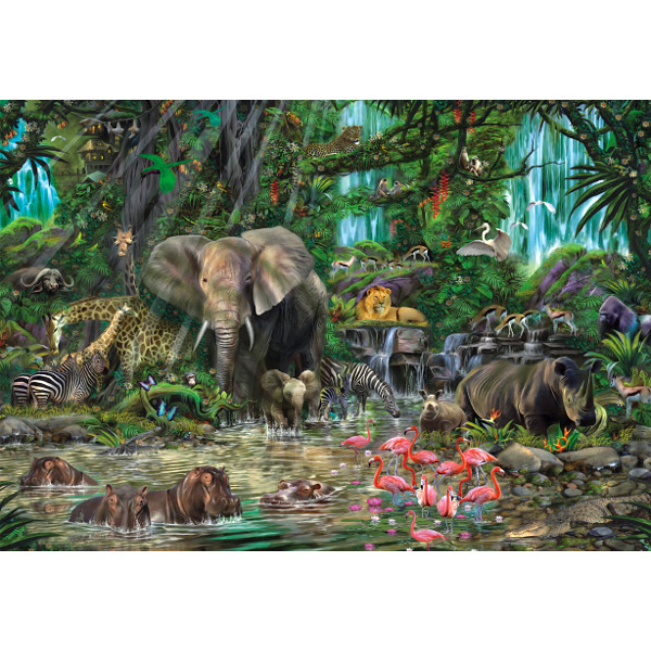 Puzzle African jungle Educa16013 2000 pieces Jigsaw