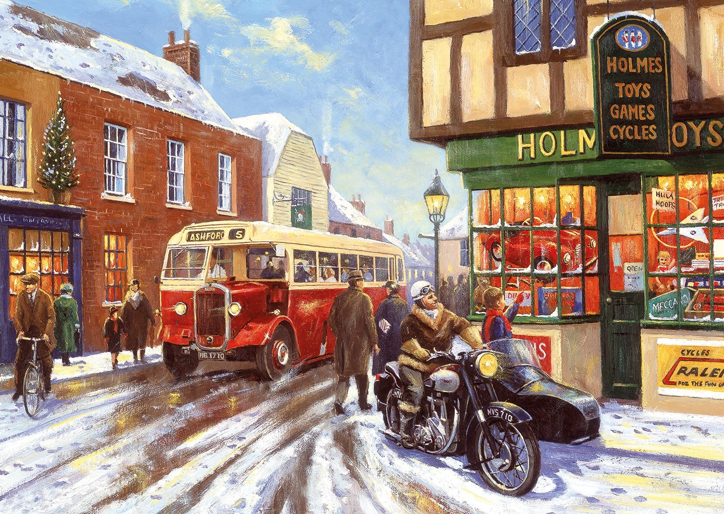 Victorian Wallpaper Black 4 Puzzles Kevin Walsh Winter About Town Gibsons G5043