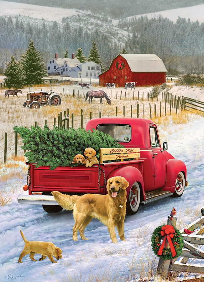 Puzzle Christmas On The Farm Cobble Hill 80127 1000 Pieces