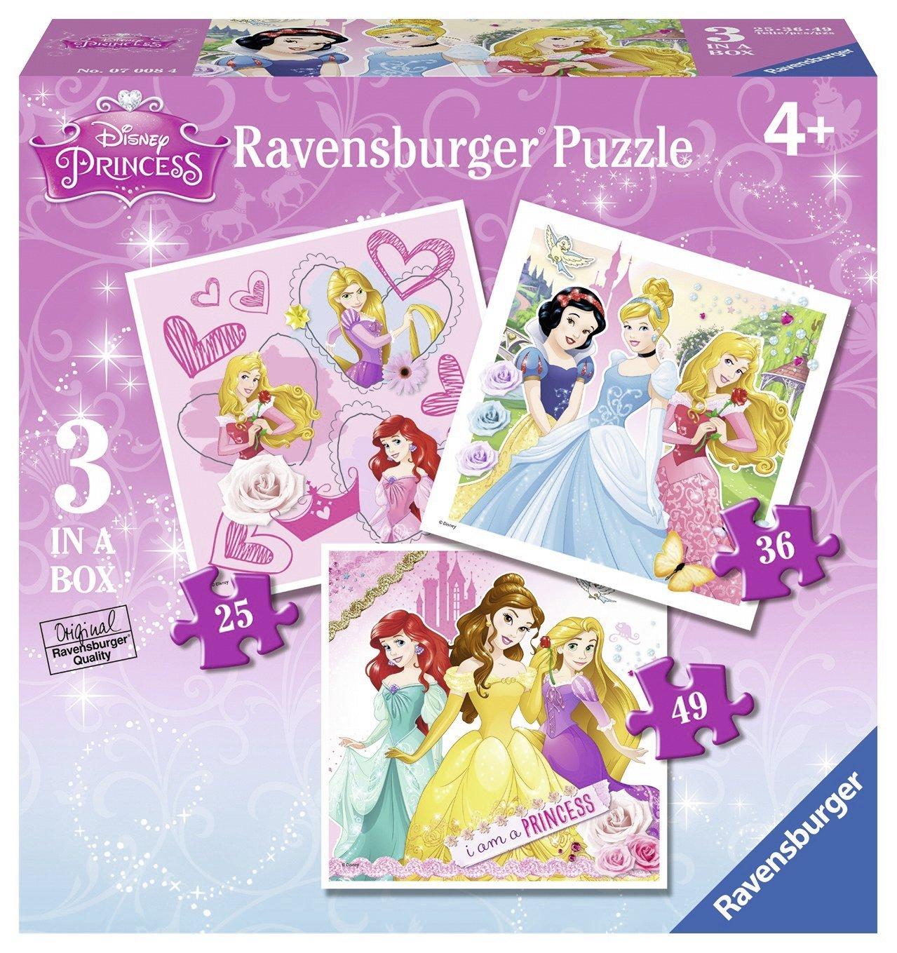 3 Jigsaw Puzzles  Disney Princess Ravensburger07008 25