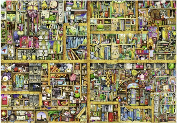 Puzzle Colin Thompson Magic Library Ravensburger-17825 18000 Pieces Jigsaw Puzzles - Deco And
