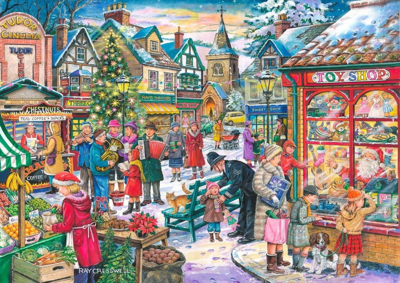 Puzzle Christmas Collectors Edition No10  Window Shopping TheHouseofPuzzles3497 500 pieces