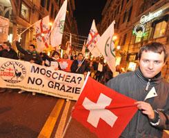 Una manifestazione della Lega Nord a Genova