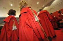 Magistrati all inaugurazione dell Anno Giudiziario