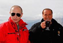 Vladimir Putin e Silvio Berlusconi