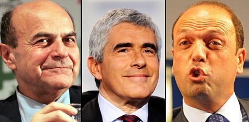 Bersani, Casini, Alfano