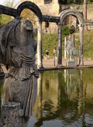 Uno scorcio di Villa Adriana a Tivoli