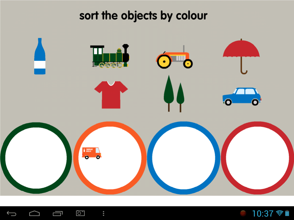 Sort Objects By Colour 2