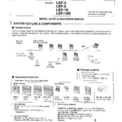 Aiphone Lef 3 Wiring Diagram Ceiling Fan With Light Lef-3 Manuals
