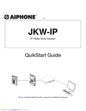 Aiphone JKW-IP User Manual (8 pages)