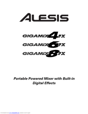 Alesis GigaMix 8FX Manuals