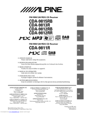 Alpine CDA-9812RR Manuals