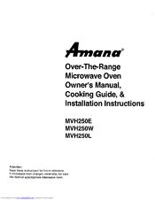 Amana MVH250W Manuals