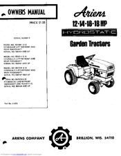 Ariens 931018 S-16 Manuals