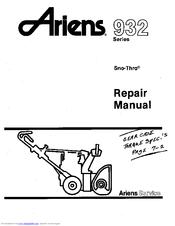 Ariens 932 Series Manuals