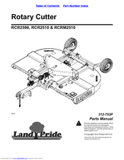 Land Pride RCR2510 Series Manuals